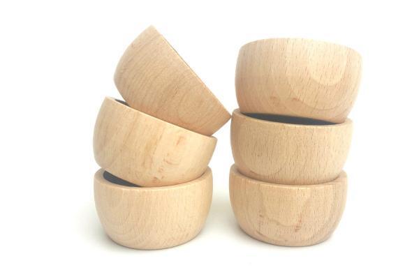 Schüsseln aus Holz nachhaltiges Holzspielzeug für Kinder