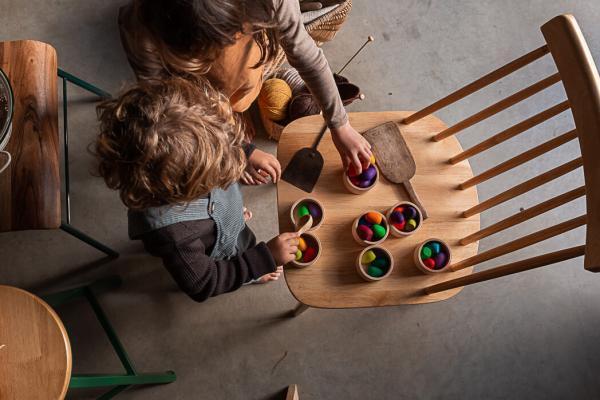 regenbogeneier, mandalas grapat 2021, rainboweggs, Holzfiguren, Lose Parts, Freispiel