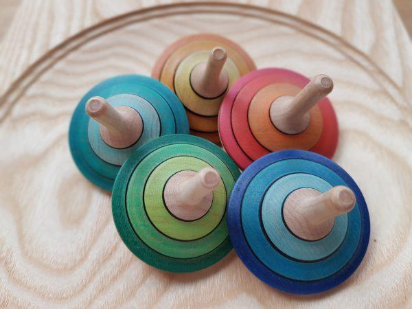 Tango groß verschiedene Farben - Holzkreisel