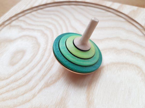Tango groß grün - Holzkreisel