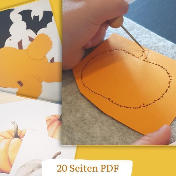 Vorlage PDF Herbst und Halloween