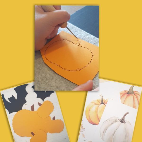 Prickelset für Kinder Herbst und Halloween