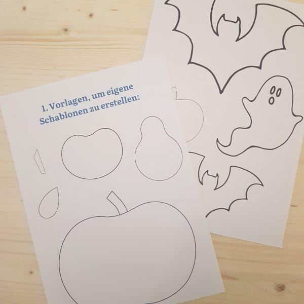 Prickel-Set mit Vorlagen Herbst Halloween - Prickelset für Kinder m